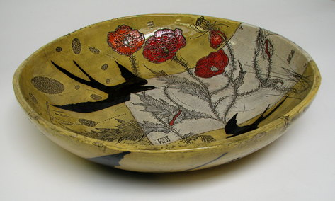 Diana Fayt Black Bird Bowl
