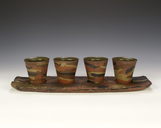 Brice Dyer Cups on Tray