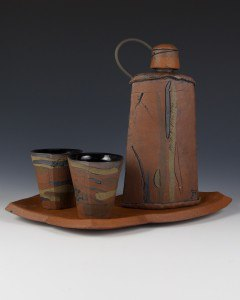 Brice Dyer Flask with Cups